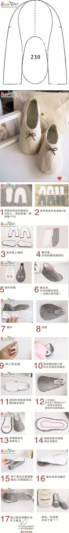 slippers tutorial