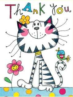 """for all your pins this week. What a beautiful board. Our new theme is """"CATS IN ART"""", illustration, drawing, painting, watercolor. Have a beautiful week and happy pinning. Birthday Wishes, Happy Birthday, Cat Drawing, Cat Art, Painted Rocks, Hand Painted, Thank You Cards, Thank You Images, Cats And Kittens"""