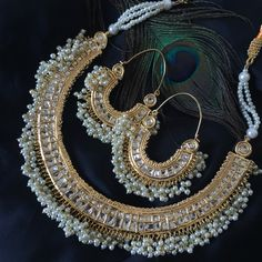 This is one of the most popular necklaces we do! Kundan and Gold plated loveliness! www.Sokorajewels.com