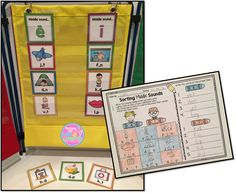Word Sorts and Pocket Chart Cards {Sorting Sounds Edition} Sorting Activities, Hands On Activities, Learning Activities, Teaching Ideas, Teaching Phonics, Word Sorts, Activity Sheets, Daily 5, Sight Words