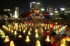 Seoul Plaza At Night - Seoul Plaza has been a favorite leisure spot for Seoulites and tourists since it first opened in 2004.  Families, couples, and friends gather here to relax and watch life go by in downtown Seoul.  Many events and concerts are often held in this area, as well.  Get There:  Take the Seoul subway to City Hall Station (Lines 1 and 2).