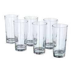IKEA - GODIS, Glass, The glass has a simple tall and straight shape which makes it perfect for all types of cold drinks, such as carbonated cocktails with a lot of ice.
