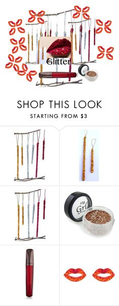 """Glitter Lips"" by garadina on Polyvore featuring beauty, Hourglass Cosmetics, Accessorize, Christmas, ornaments and glitterlips"