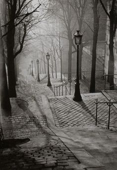 You're walking down these stairs very early on a foggy morning. You smell the faint scent of men's cologne, and hear footsteps, but, no matter how hard you look, you don't see anyone. You spin around and find you're now face-to-face with the illusive man... What happens?