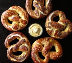 soft pretzel recipe -- yum.