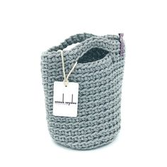 d1b4f0681826 Exclusive Tote Bag Scandinavian Style Crochet Tote Bag Handmade Knitted  Handbag SILVER SPACESHIP color Size MINI Limited Edition