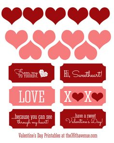 Free Valentine Gift Tags at the36thavenue.com #valentines #printables