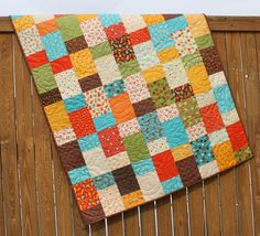 Bright Baby Boy Lollipop Quilt Toddler Bed Red Yellow Blue Orange Green Brown Blanket on Etsy, $169.87 CAD