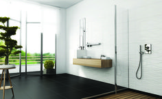 Spectra seinälaattasarja. Koko 30×90 cm, kuvassa White Onda -kuviolaatta. Ceramic Wall Tiles, Spectrum, Bathtub, Contemporary, Bathroom, Wave, Ceramic Tile Backsplash, Standing Bath, Washroom