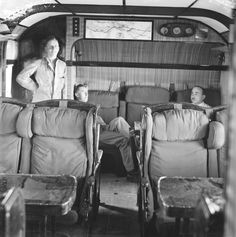 Interior of an Imperial Airways Short S.17 Kent flying boat, circa 1935.