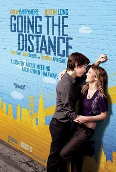 Going the Distance (2010) Drew Barrymore, Justin Long, Charlie Day, Jason Sudeikis...  A California-based journalism student (Drew Barrymore) and her New York lover (Justin Long) try valiantly to keep their bicoastal romance alive.