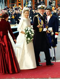 Willem-Alexander's bride found her perfect gown courtesy of one of the world's top designers. Princess Maxima of the Netherlands married her royal love on February 2, 2002, in Amsterdam wearing a Valentino couture long-sleeved ivory gown