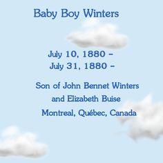 So Many Ancestors!: Wednesday's Child: Baby Boy Winters #genealogy
