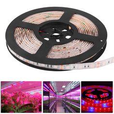 LED Grow Light DC12V Resin Waterproof Hight Brightness 5050 LED Strip Light for Aquarium Greenhouse Plant Growing