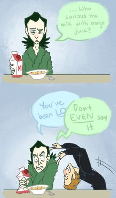 Loki and the Loon... :D