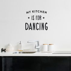 Kitchen Dancing Vinyl Wall Decal by Made of Sundays