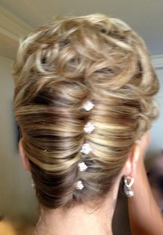 Mother of the Bride Classic French Twist with a little sparkle