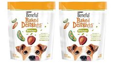 Purina Beneful Baked Delights Dog Snacks  Snackers  Peanut Butter  Cheese Flavors  Net Wt 95 OZ 269 g Each  Pack of 2 *** Read more reviews of the product by visiting the link on the image.