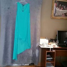BCBG Dress Emerald sundress short front long back... REDUCED BCBG Dresses