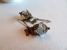 Moonstone Earrings Butterfly Earrings Dangle by lululovestocreate, $22.00