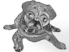 To Draw Zentangle Patterns Doodles Pug Dogs Zen Doodle