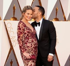 Pin for Later: These Celebrity Couples Heated Up the Red Carpet at the Oscars John Legend and Chrissy Teigen