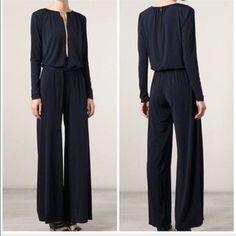 Michael Kors Palazzo Black Pant Jumpsuit Xs