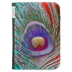 Peacock Feather 3 Kindle Case