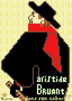 Aristide Bruant dans son cabaret, Henri de #Toulouse Lautrec x #joojaebum ( #pixelart )