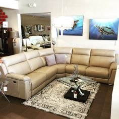 HTL relax sectional leather reclining Scandinavia inc Metairie New Orleans Louisiana contemporary modern furniture
