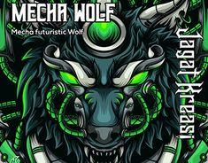 Wolf Illustration, Graphic Design Illustration, Werewolf, Futuristic, Behance, Profile, Gallery, Drawings, Check