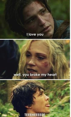 Haha same, bellarke af Bellamy And Clarke Kiss, Clarke And Finn, Bellamy The 100, The 100 Show, The 100 Cast, Best Tv Shows, Movies And Tv Shows, The 100 Serie, The 100 Quotes