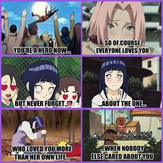 THANK YOU !!!!!! He he friggin' ends up with that thing called Sakura I will be so ticked off!!! | Naruto, Hinata, Naruhina, true love