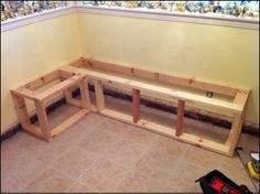 Build a Custom Corner Banquette Bench | Corner banquette ...
