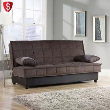 Convertible Futon Sofa Couch Bed Sleeper Mattress Lounger Living Room Furniture