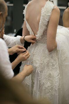 Naeem Khan Bridal Fall 2016. / Wedding Style Inspiration / LANE → http://thelane.com/Backstage/post/2015-10-15-naeem-khan-bridal-fall-2016