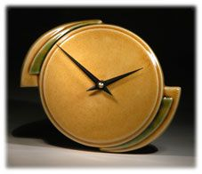 Echo of Deco British Art Pottery Wall Clocks