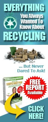 160x400px recycling free report banner for http://www.recyclingfactsguide.com Spread the word..