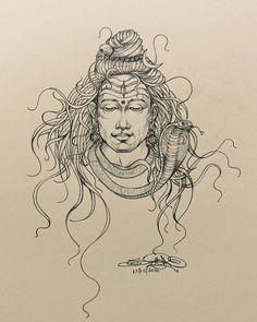 "santubrahma""Jatadhari Shiva"" Pencil on paper art shiv bum bum bhole Shiva Linga, Shiva Shakti, Rudra Shiva, Shiva Art, Hindu Art, Zentangle, Shiva Sketch, Shiva Tattoo Design, God Tattoos"