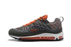 Mens Shoes Nike Air Max 98 Total Crimson Wolf Grey Dark Grey 640744 006 Nike  Air c04a1e947