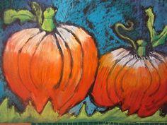 Artsonia Art Museum :: Artwork by Jo50 - Pastel Pumpkins