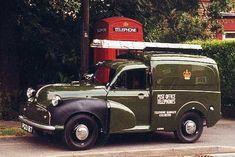 A proper rubber winged Post Office Morris Minor Van. Vintage Vans, Vintage Trucks, Old Trucks, Commercial Van, Commercial Vehicle, Volvo, Classic Cars British, Old Lorries, Van Car