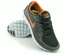 Nike Free Run Gray Orange mænd