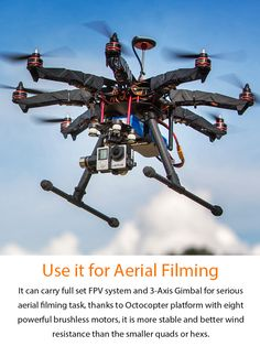 Most Affordable and Portable Octocopter Platform for GoPro Camera Helipal proudly presents - the amazing Storm Drone 8 RTF Edition Most multi-rotors on the market are Quads and Hexs, why is that? Buy Drone, Drone For Sale, Drone Diy, Aerial Filming, Pilot, Latest Drone, Drone Technology, Drone Quadcopter, Drone Photography