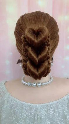 Hairdo For Long Hair, Bun Hairstyles For Long Hair, Long Hair Video, Bride Hairstyles, Headband Hairstyles, Summer Hairstyles, Saree Hairstyles, Front Hair Styles, Medium Hair Styles