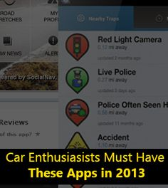 5 Must Have Apps for Car Enthusiasts in 2013
