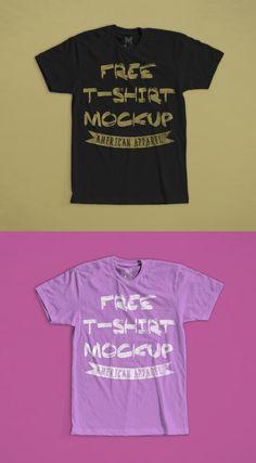 Free T-Shirt Mockup American Apparel 2016