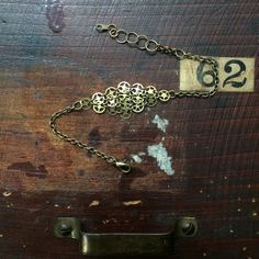 Handmade one of a kind brush gold bracelet. by L2CreationsJewelry