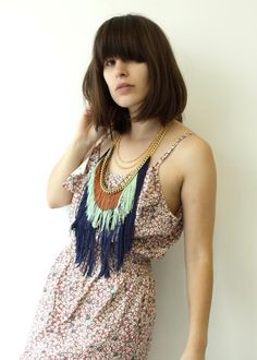 Three Layer Fringe Necklace