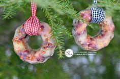 Hanging Birdseed Cake Ornaments